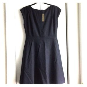 NWT J Crew navy wool short sleeve dress 8 petite